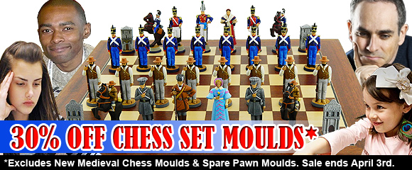 30% Off Chess Set Moulds
