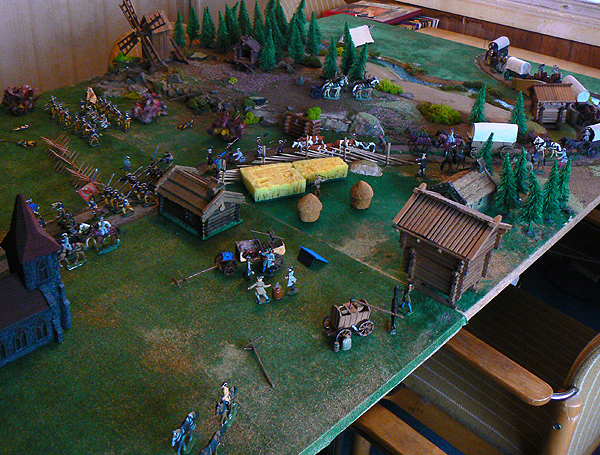 Jan Arnerdal diorama with 40mm scale soldiers