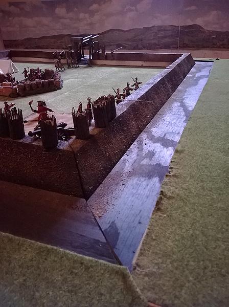 Jan Arnerdal diorama - Russian Cannon in Redutt