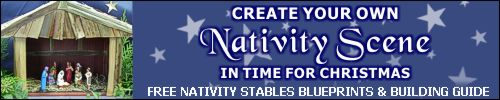 PRINCE AUGUST Nativity Stables Blueprints and Assembly Guide.