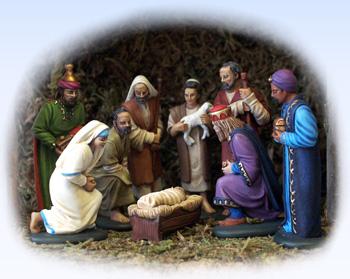 Nativity set of moulds