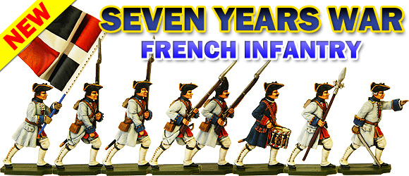 Seven Years War French Infantry Banner.