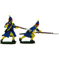 Karoliner Grenadiers charging and with raised musket