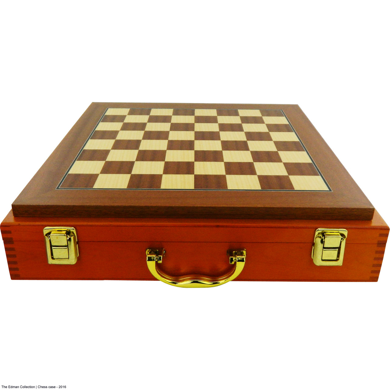 Deluxe chess display case includes a chess board just add a chess set - Chess board display case ...