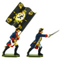 Painted examples of a Prussian Officer and Standard bearer.