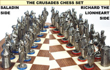 54mm Crusades Chess Set Antique Finish