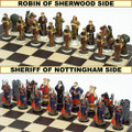 Pewter Robin Hood Chess Set