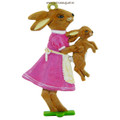 Easter Decoration Mould - Bunny with Kitten