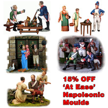 Napoleonic 'At Ease' bundle of 5 sets of moulds.