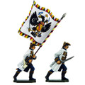 PA3106 Austria: Hungarian Officer and Standard Bearer