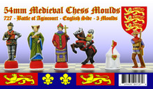 Medieval Chess Set: English Side