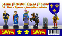 Medieval chess set: French side