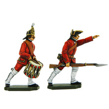 PA3110 Seven Years War Russia: Infantry Grenadier and Musketeer Drummer and NCO