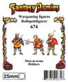 Fantasy armies - Men-at-arms 25mm scale mould.