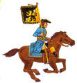 Karoliners Cavalry Man standard bearer