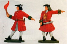 Irish Wild Geese 2 Artillery Men - Portfire & Officer