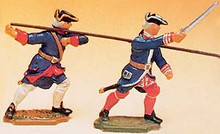 French Regiments 1750 Pikemen and Officer