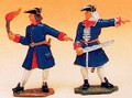 French Regiments 2 Artillery Men - Portfire & Officer