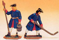 French Regiment 1750 2 Artillery Men - Loader & aim