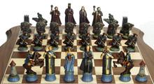 Fantasy Chess Set: Both sides.