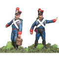 France:2 Foot Artillery men