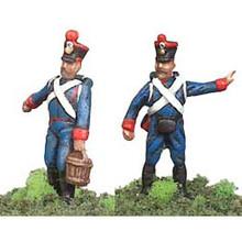 France:2 Foot Artillery men