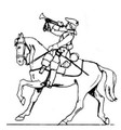 18th Century Cavalry trumpeter