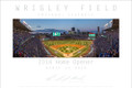 The Home Opener at Wrigley Field on April 11, 2016. This panoramic can be matched with the first night game ever at Wrigley Field on August 9, 1988 to make a set of prints. On this night the Cubs beat the Cincinnati Reds 5-3.
