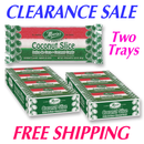 Maria's Coconut Bars TWO 24 ct Trays