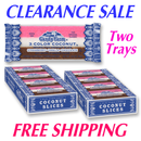 3 Color Coconut Bars TWO 24 ct Trays