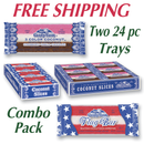 COMBO Neapolitan & Flag Bar                TWO  24 count trays