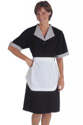Women's Black Poly Housekeeping Dress