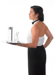 Women's Halter Tuxedo Shirt