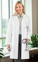 "Ladies 39"" Nanotex Lab Coat"