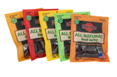 All Natural 5 Flavor Sampler Pack 3oz Beef Jerky