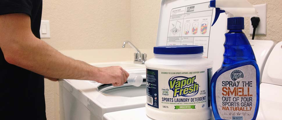 Vapor Fresh Sports Laundry Detergent and Sports Cleaning Spray