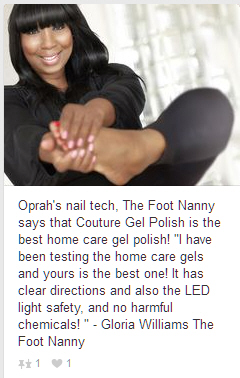 Oprah's foot nail gel polish guru