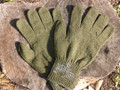 Military Wool Glove Liner Size 6 XL Green