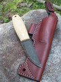 Lagom Bush Knife Snakeskin Micarta Sagewood Custom Sheath