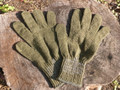 Military Wool Glove Liner Size 4 M Green