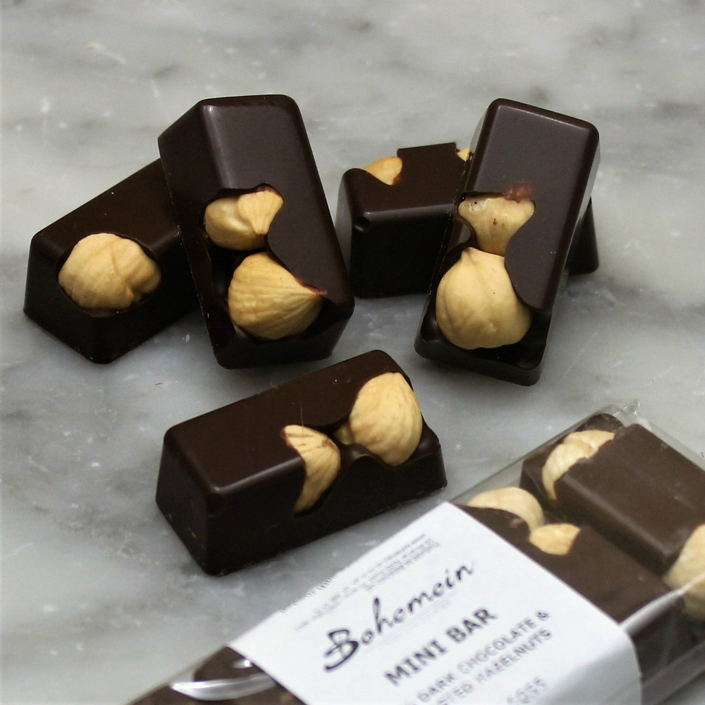 Bohemein Hazelnut 53% Dark Chocolate Mini Bar