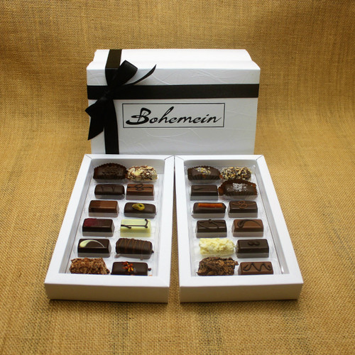 Overwhelmed by choice? Let our knowledgeable Staff and Chocolatiers make the decisions for you.Our recommended assortment is 1 of all of our chocolates