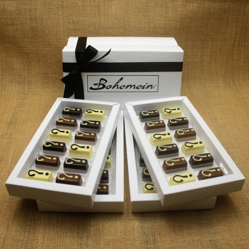 With Bohemein My Own Selection 48 chocolate  Gift Box you can add your personal touch, by making your own selection of 48pieces from our complete range of chocolates.