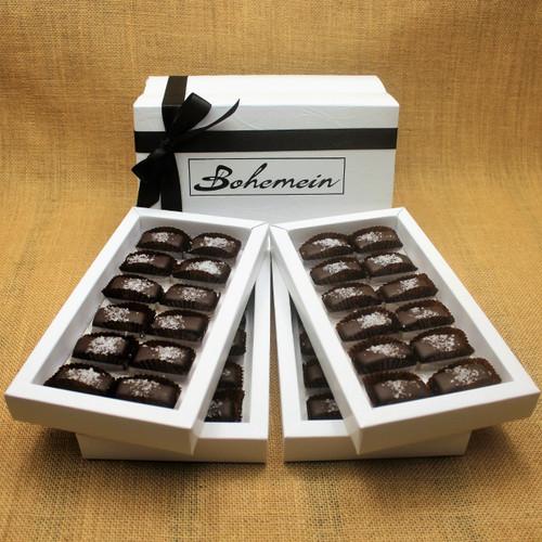 Bohemein 48 chocolate gift Box with 48 Award Winning Sea Salt Caramels.