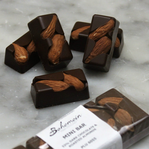 Bohemein Almond 53% Dark Chocolate Mini Bar