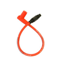 Racing Red Spark Plug Cable / Cap with wire connector - 20""
