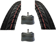 IRC NR53 2.25 x 17 Moped Tire and Tube Package