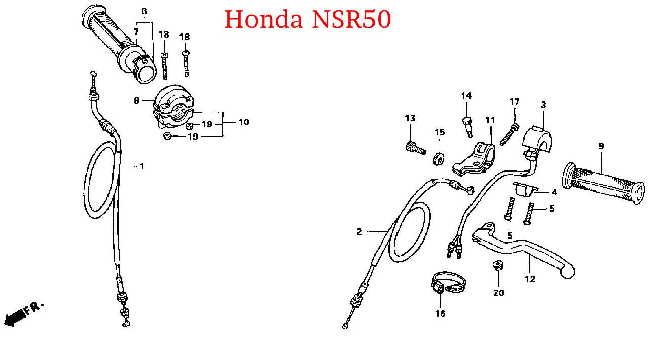 honda nsr50  ns-1  cb50r lower throttle housing