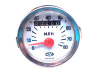 NOS CEV  80mph White Face Speedometer