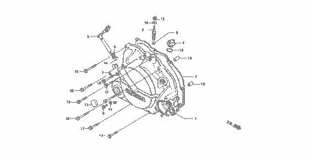 Honda HRC Kickstart Removal Cover Plug, NSR50, NS-1, MB5